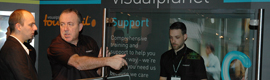 Visualplanet exhibits a large format touchfoil in ISE 2013