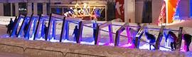 Atomic3 crea en Montreal un 'Iceberg' interactivo de luz y sonido