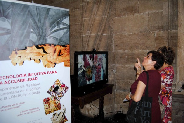 Lonja of Valencia with augmented reality (photo: UPV)