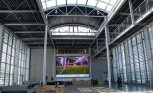 Unicol designs in Germany, a giant video wall