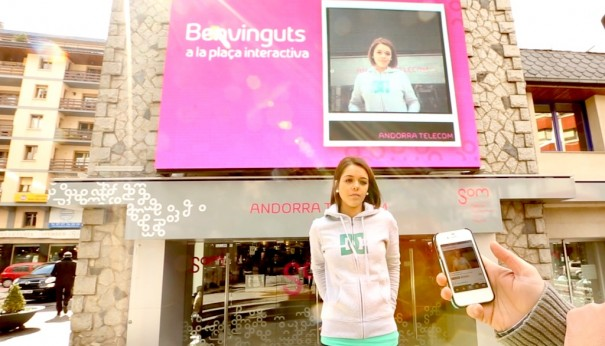 Pantalla interactiva en Andorra (Foto: Neo Advertising)