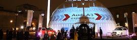 Christie llena de luz la espectacular presentación del nuevo Audi A3 dentro de una cúpula geodésica