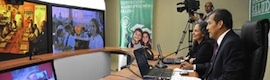 The Peruvian government launches with Cisco telepresence room