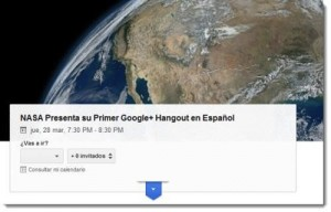 Google Hangout NASA