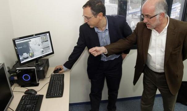 Presentación sistema videovigilancia en Portos de Galicia (Foto: Diario de Arousa)