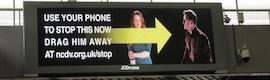 Digital signage y móviles para la lucha contra la violencia de género