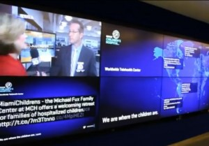 Hospital ninos Miami video-wall