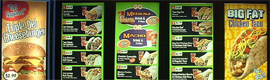 Mvix helps to update the contents of the digital menu cards with your web library Signage Templates