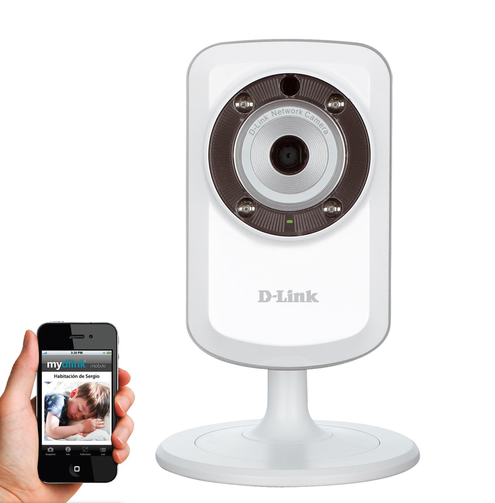 Caméra réseau cube panoramique HD d'intérieur jour/nuit Wifi N