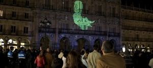 Foto Tribuna de Salamanca videomapping plaza mayor