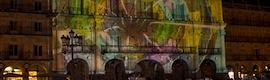 La Plaza Mayor de Salamanca se transforma en una espectacular pantalla gigante de 27 metros