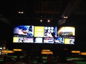 TJs Sport Garden videowall