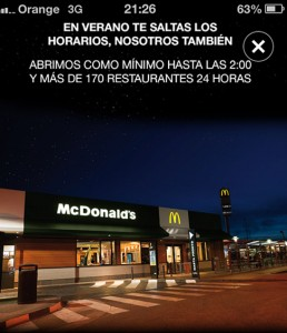 Campana Mcdonalds OMD