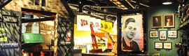 The history of industrial machinery JCB counted with original audiovisual systems manufacturer