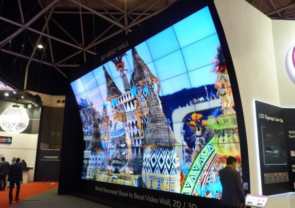 LG videowall 3D