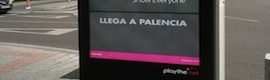 Playthe.net digitaliza con 'mupis' de 80 pulgadas el centro de Palencia