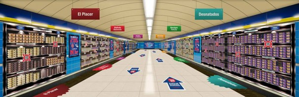 Supermercado virtual Danone Metro Madrid