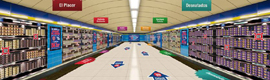 Danone enters the virtual advertising to promote their dairy in the Metro de Madrid