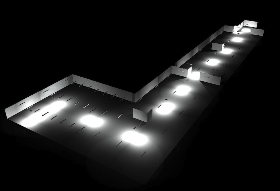 Piano di illuminazione di emergenza renove per migliorare la