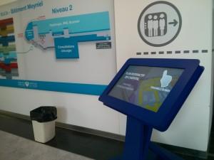 Kiosko tactil interactivo en el Hospital de Tenon