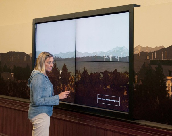 ABS Touchscreen videowall Central Washington University