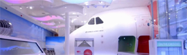 Emirates Aviation Experience theme park: an interactive environment with large aircraft simulators