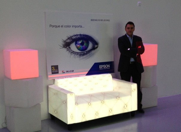 Evento Epson porque color importa Vicente Mayor, business manager Epson