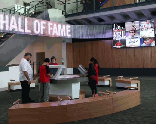 Pantalla aerea Messagemaker en el Museo Nacional Futbol