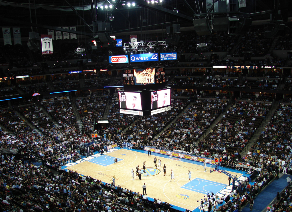 Pepsi Center: Stadium Denver Nuggets Has The Largest Marker Installed In