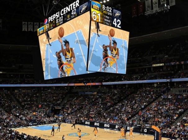 Pepsi center marcador Daktronics en Denver Nuggets