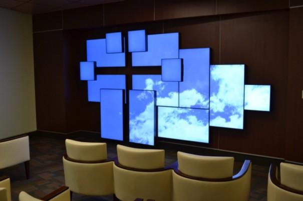 Planar Mosaic videowall arquitectonica en Florida Hospital
