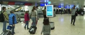 Robbi en el aeropuerto de Ginebra