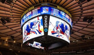 Marcador Daktronics en el Madison Square Garden
