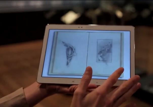 Museo del Prado Exposicion Roma en el bolsillo tablet de Samsung