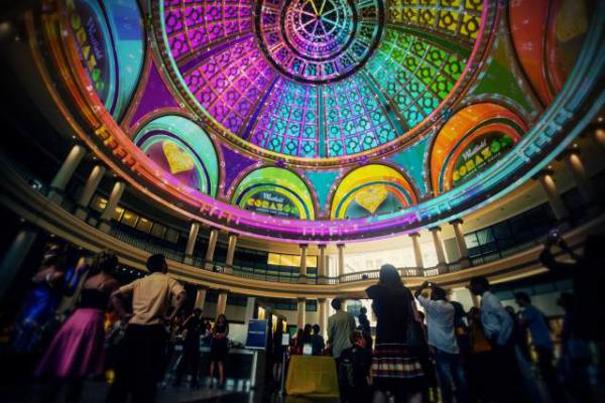 Obscura Digital mapping en la cupula Centro Westfield 4