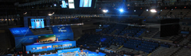 Sono instala los sistemas audiovisuales en el XV Campeonato Mundial de Natación