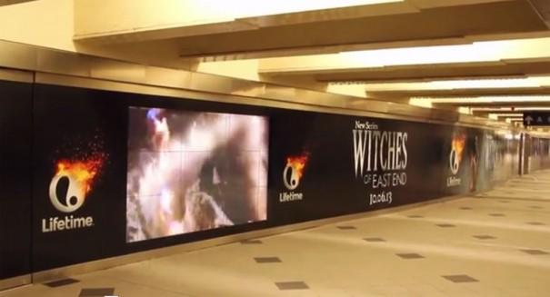 Videowall promocional de una serie de TV en el metro NY