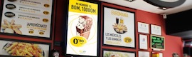 Digital signage of Champions and LG technology increases sales of 100 Montaditos