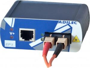 Adilec y C3 conversor de medio Fast Ethernet