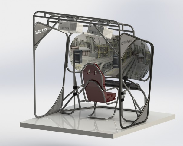 Christie_Concept rendering of a UAV en  IITSEC 2013
