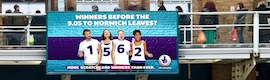 Grand visuel : DooH innovant les gares de campagne National Lottery United Kingdom