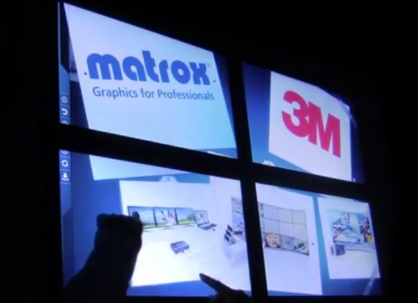 Matrox 3M interactive videowall 2