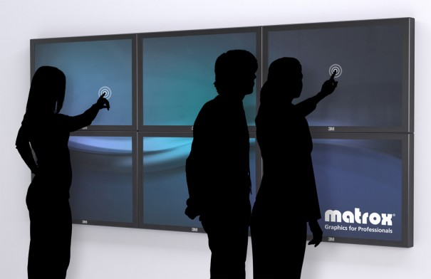 Matrox 3M interactive videowall
