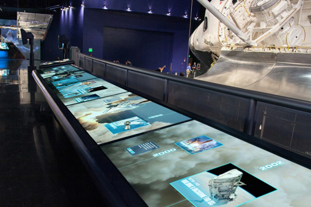 MultiTouch en el Space Shuttle Atlantis