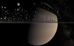 Saturno imagenes tomadas desde planetario de Brno