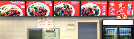 E Display instala el sistema de señalización digital de la cadena de restaurantes Famous Wok
