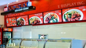 Tableros menu digitales E Display en Wok
