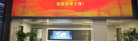 China State Grid electric company installs two screens Supernova Infinity in its operations center