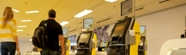 ARINC carries the signage digital to the offices of Hertz in the airport of San Diego