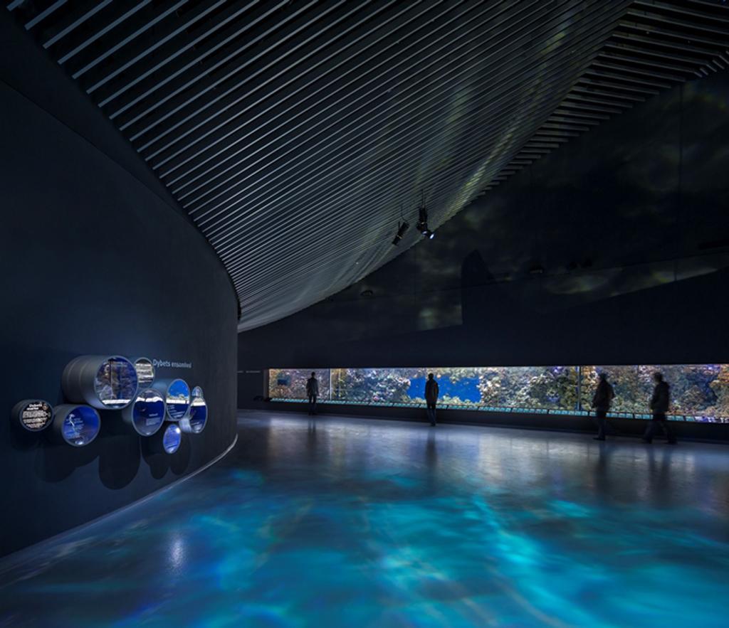 rosco ayuda a crear un entorno de mundo submarino en el acuario the blue planet de copenhague. Black Bedroom Furniture Sets. Home Design Ideas
